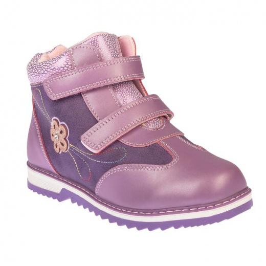 Ботинки детские YT-11 MINAKU сиреневый р. 32 3587553