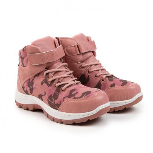 Ботинки детские LIAO, цвет розовый, размер 31