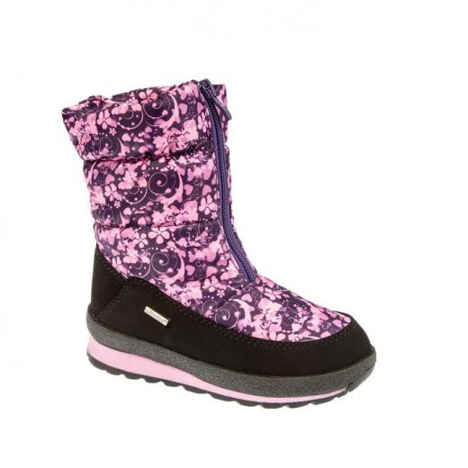 Дутики детские, цвет розовый/фиолетовый, размер 31