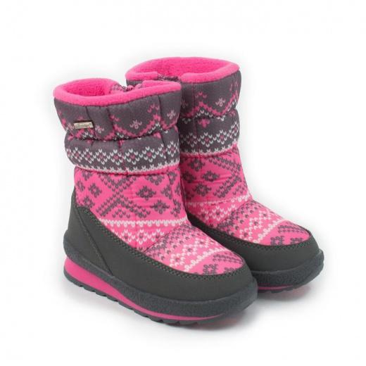 Дутики детские для девочки, цвет розовый, размер 27
