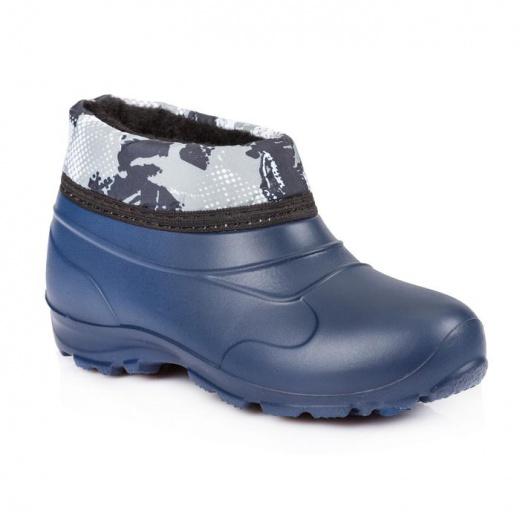 Галоши детские из ЭВА с надставкой и утеплителем арт. Д601-НМ, цвет синий, размер 28/29