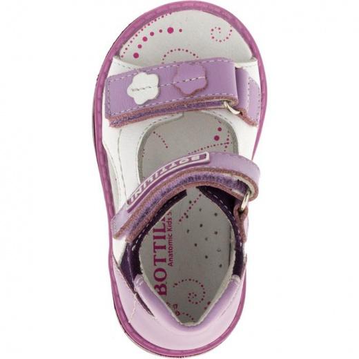 Сандалии детские, размер 18, цвет фиолетово-белый 4902895