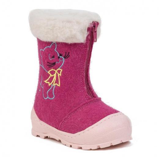 Валенки детские, цвет розовый, размер 24