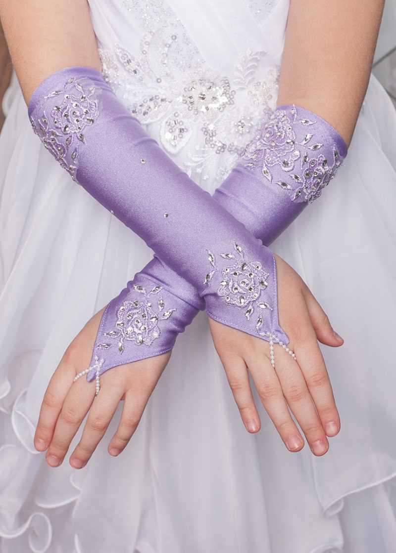 Перчатки митенки длинные