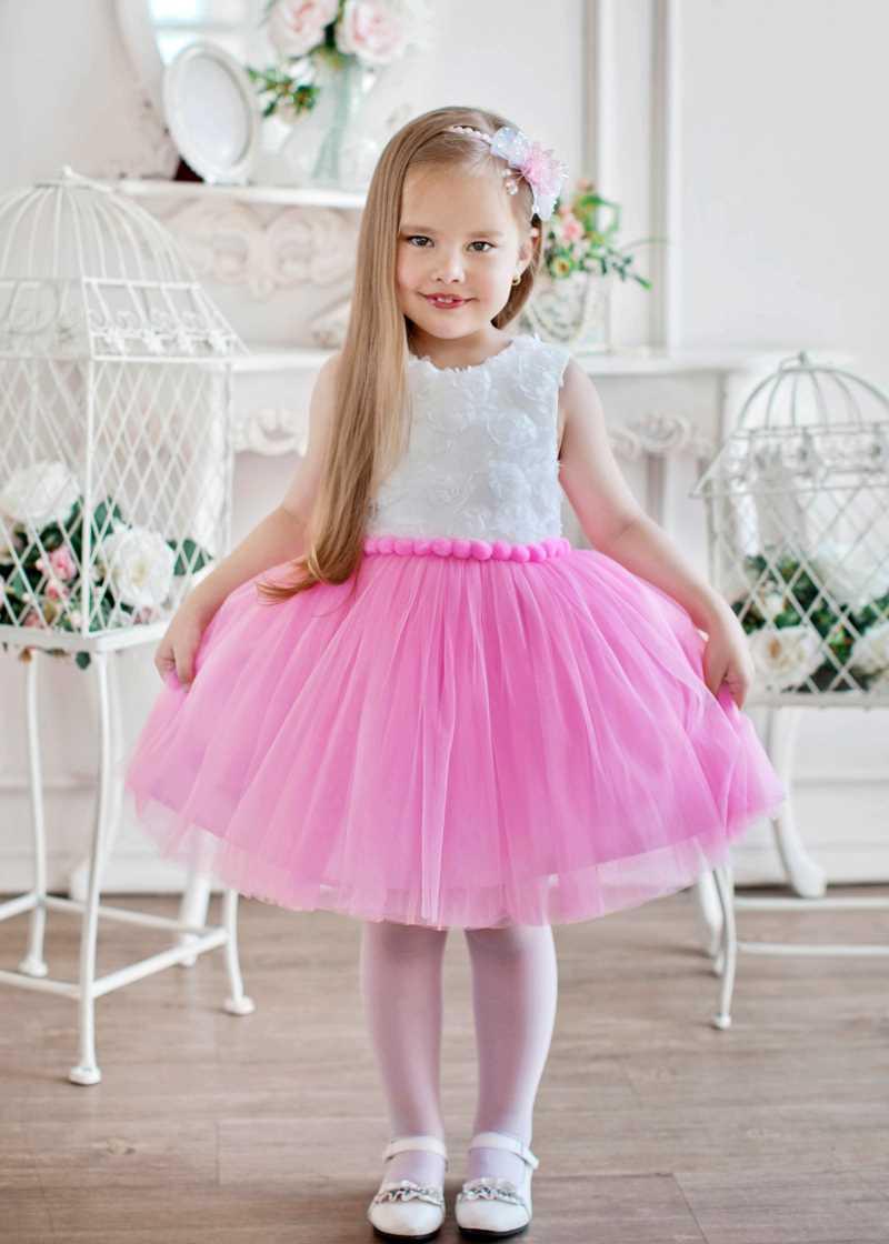 платье с розовой юбкой