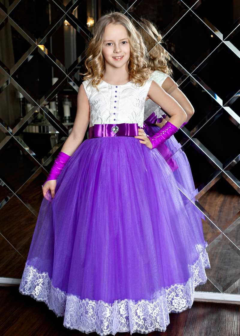 Платья для девочек длинные в пол