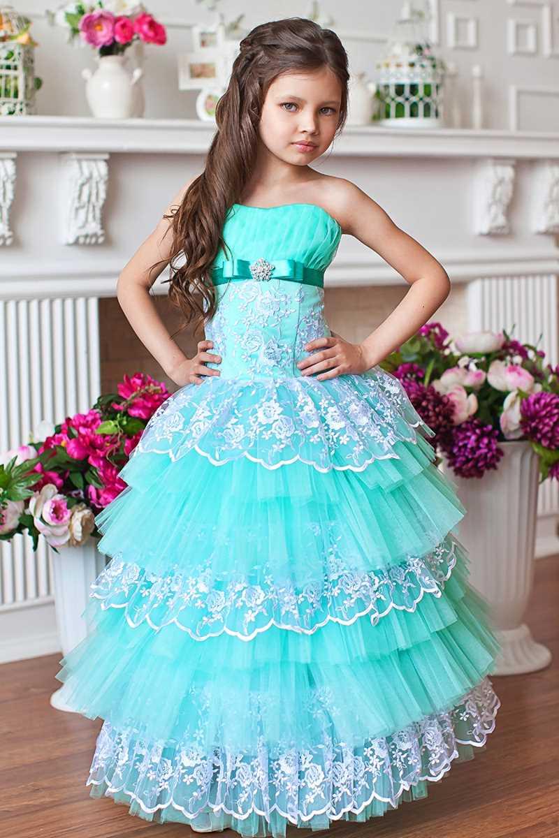 Платье в пол для девочки