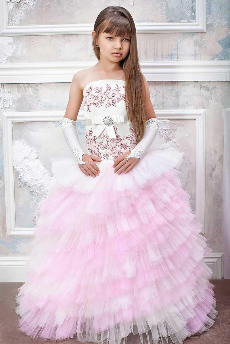 Красивые платья для девочек пышные