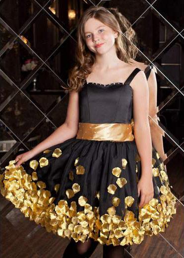 Золотое платье для девочки